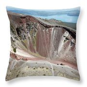 Aerial View Of Rhyolite Dome Complex Throw Pillow by Richard Roscoe