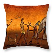 Africa Throw Pillow by Jutta Maria Pusl