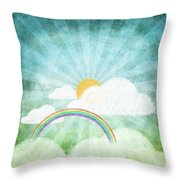 After Rainy Throw Pillow by Setsiri Silapasuwanchai