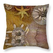 After The Rain Under The Star Throw Pillow by Pepita Selles