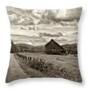 Ah...west Virginia Sepia Throw Pillow by Steve Harrington