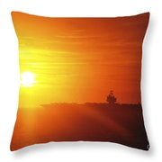 Aircraft Carrier Uss Enterprise Throw Pillow by Stocktrek Images