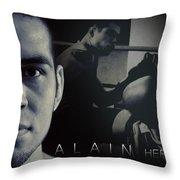 Alain Hernandez Mixed Martial Artist Throw Pillow by Lisa Knechtel