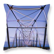 Alaska Native Veterans Honor Bridge Throw Pillow by Yves Marcoux