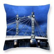 Albert bridge London Throw Pillow by Jasna Buncic