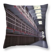 Alcatraz Cell Block Throw Pillow by Paul W Faust -  Impressions of Light