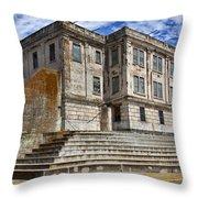 Alcatraz Cellhouse  Throw Pillow by Garry Gay