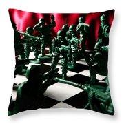 Alekhine's Gun Throw Pillow by Lon Casler Bixby