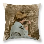Alice Liddell, Alices Adventures Throw Pillow by Science Source