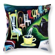 Alice's Choice Throw Pillow by LEANNE WILKES