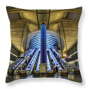 Alien Landing Throw Pillow by Evelina Kremsdorf
