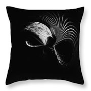 Alien Mask Throw Pillow by Skip Nall