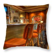 All American Diner 3 Throw Pillow by Bob Christopher