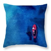 Alone 1 Throw Pillow by Anil Nene