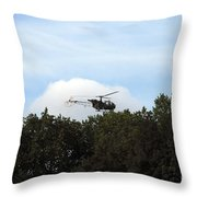 Alouette II Of The Belgian Army Throw Pillow by Luc De Jaeger