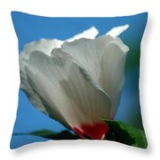 Althea Flower Throw Pillow by David Weeks