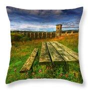 Alwen Reservoir Throw Pillow by Adrian Evans
