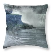 American Falls Throw Pillow by William Fields