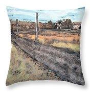 Americana No.6 Rural Road No.2 Throw Pillow by Sheri Parris