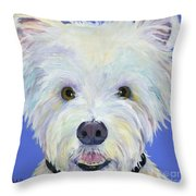 Amos Throw Pillow by Pat Saunders-White