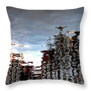 Amsterdam Reflections Throw Pillow by Andy Prendy