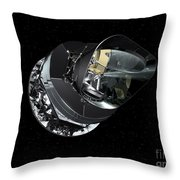An Artists Concept Of The Planck Throw Pillow by Stocktrek Images