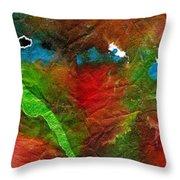 An Earthy Feeling Throw Pillow by Angela L Walker