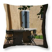 An Empty Table Awaits Residents Throw Pillow by Heather Perry