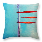 An Issue With Blue Throw Pillow by Snake Jagger