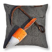 Anchor And Float Throw Pillow by Garry Gay