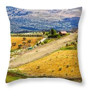 Andalusia Countryside Panorama Throw Pillow by Artur Bogacki