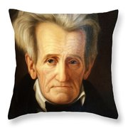Andrew Jackson, 7th American President Throw Pillow by Photo Researchers