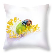 Anemone Lady Throw Pillow by Jacky Parker