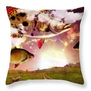 Angel Fish Throw Pillow by Mark Ashkenazi