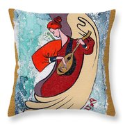 Angel Playing For Us No2 Throw Pillow by Elisabeta Hermann