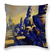 Angkor Wat Ruins Throw Pillow by Ryan Fox