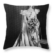 Anna Eleanor Roosevelt Throw Pillow by Granger