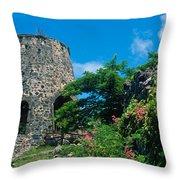 Annaberg Ruins Throw Pillow by Kathy Yates
