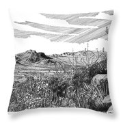 Anthony Gap New Mexico Texas Throw Pillow by Jack Pumphrey