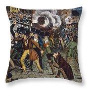 Anti-catholic Mob, 1844 Throw Pillow by Granger