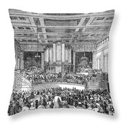 Anti-slavery Meeting, 1842 Throw Pillow by Granger