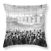 ANTI-SLAVERY MEETING, 1863 Throw Pillow by Granger