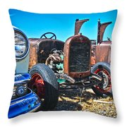 Antique Auto Sales Throw Pillow by Steve McKinzie
