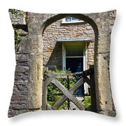 Antique Brick Archway Throw Pillow by Heiko Koehrer-Wagner