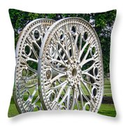 Antique Paddle Wheel University of Alabama Birmingham Throw Pillow by Kathy Clark