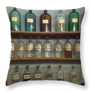 Apocethary Jars Throw Pillow by Anna Villarreal Garbis