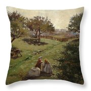 Apple Orchard Throw Pillow by Luther  Emerson van Gorder