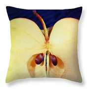 Apple Throw Pillow by Skip Hunt