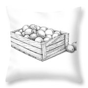 Applecrate Throw Pillow by Christy Beckwith