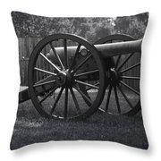 Appomattox Cannon Throw Pillow by Teresa Mucha